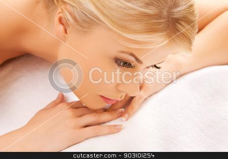 beautiful woman in spa salon stock photo, picture of beautiful woman in spa salon by Syda Productions