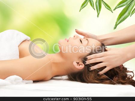 beautiful woman in massage salon stock photo, picture of beautiful woman in massage salon by Syda Productions