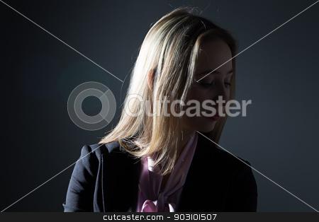 Portrait of a businesswoman stock photo, Portrait of businesswoman - photo portrait with gray background by Chris Tefme