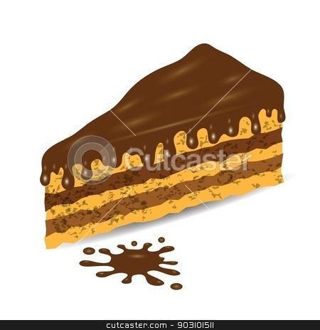 piece of cake stock vector clipart, colorful illustration with piece of cake for your design by valeo5
