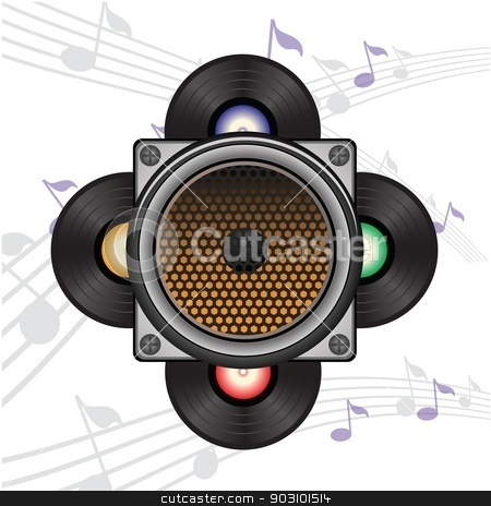 musical background stock vector clipart, colorful illustration with musical background for your design by valeo5