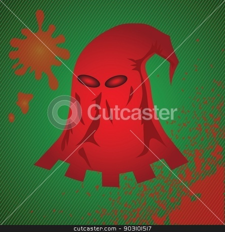 red mask stock vector clipart, colorful illustration with red mask for your design by valeo5