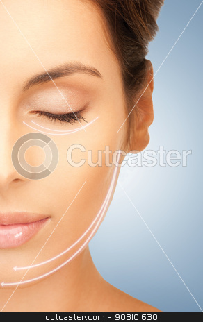 cosmetic surgery stock photo, picture of beautiful woman ready for cosmetic surgery by Syda Productions
