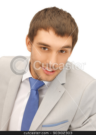 picture of handsome man stock photo, bright picture of handsome man in suit. by Syda Productions