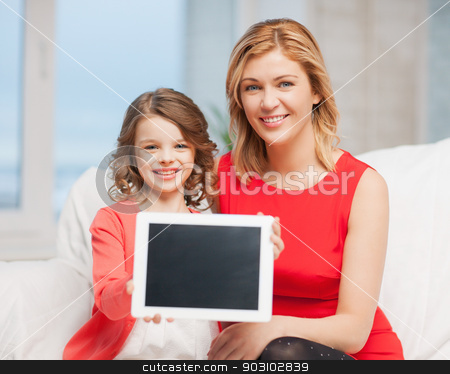 mother and daughter stock photo, picture of mother and daughter with tablet pc by Syda Productions