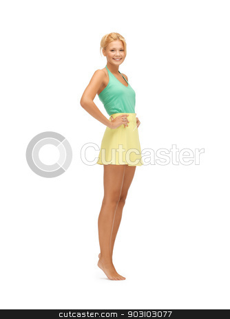 beautiful teenage girl in casual clothes stock photo, picture of beautiful teenage girl in casual clothes by Syda Productions