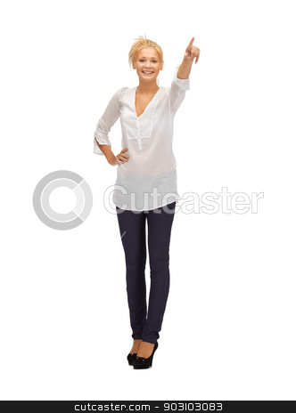 beautiful teenage girl in casual clothes stock photo, picture of beautiful teenage girl in casual clothes on high heels by Syda Productions