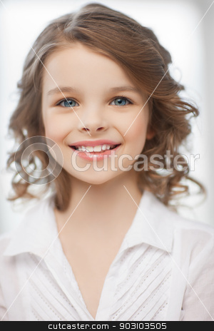 girl at home stock photo, picture of beautiful pre-teen girl at home by Syda Productions