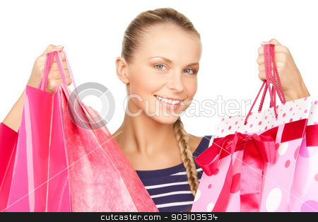 woman with shopping bags stock photo, picture of lovely woman with shopping bags by Syda Productions