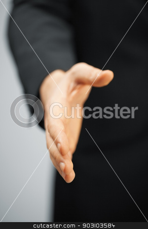 man in suit with an open hand stock photo, picture of man in suit with an open hand . by Syda Productions