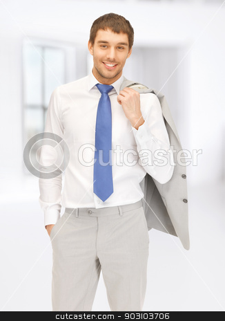 picture of handsome man stock photo, bright picture of handsome man in suit by Syda Productions