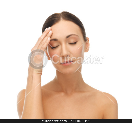 depressed woman stock photo, СЃloseup portrait of a young woman looking depressed by Syda Productions