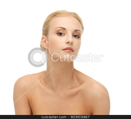 beautiful woman with blonde hair stock photo, face of beautiful woman with blonde hair by Syda Productions