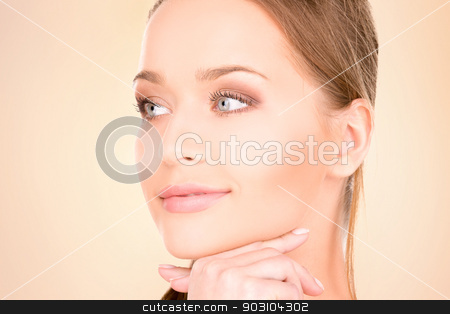 lovely woman stock photo, bright picture of lovely woman by Syda Productions