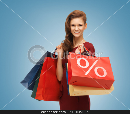 girl with shopping bags stock photo, picture of beautiful girl with shopping bags by Syda Productions