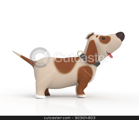 3d little ridiculous dog stock photo, The ridiculous pet asks the owner... by karelin721