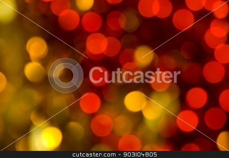 Christmas Background stock photo, Red and yellow blur Christmas texture and background by richpav