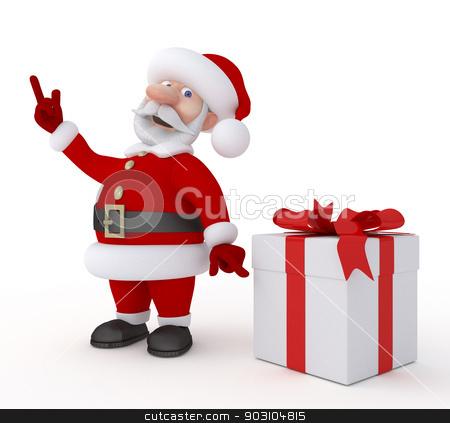 Christmas holiday. stock photo, New Year's congratulation from Santa Claus. by karelin721