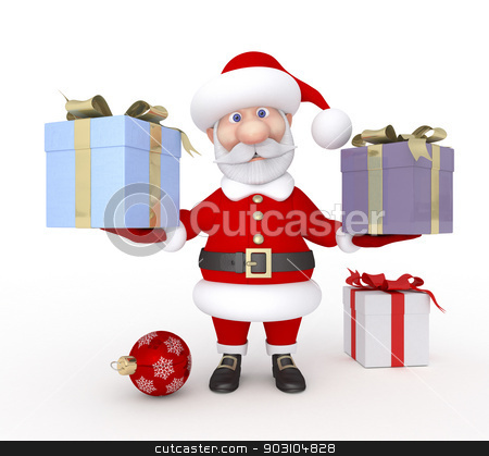 Christmas holiday. stock photo, New Year's congratulation from Santa Claus. by karelin721