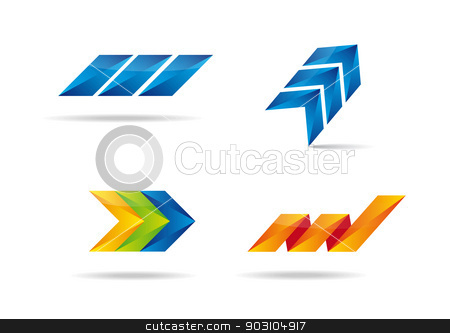 Colorful set with abstract design. stock vector clipart, Colorful set with creative design for your business. by nazaranka