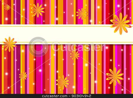 Creative colored postcard. stock vector clipart, Creative colored postcard with more stripes for your unique celebration. by nazaranka
