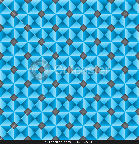 Seamles texture design in blue stock vector clipart, Seamles texture design in blue with rhombus shapes by Mihaly Pal Fazakas