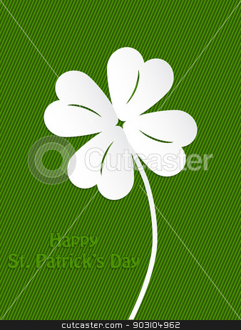 St Patrick's day background design stock vector clipart, St Patrick's day background design with white shamrock by Mihaly Pal Fazakas
