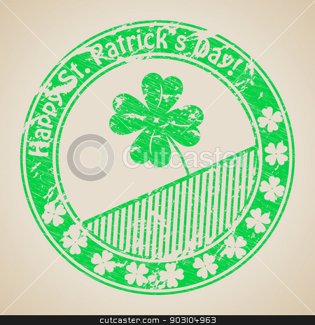 St Patrick's day stamp design stock vector clipart, St Patrick's day grunge rubber stamp design by Mihaly Pal Fazakas