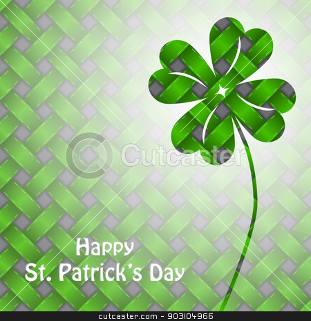 St patrick's day background with green elements stock vector clipart, St patrick's day background design with green elements by Mihaly Pal Fazakas