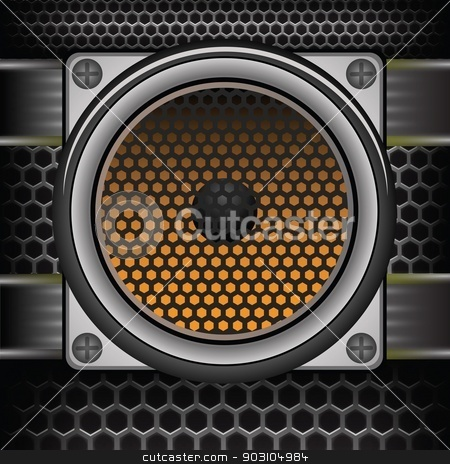 musical speaker stock vector clipart, colorful illustration with musical speaker for your design by valeo5