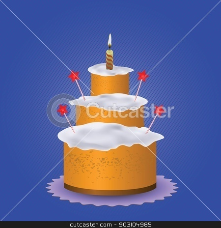 sweet cake stock vector clipart, colorful illustration with sweet cake for your design by valeo5