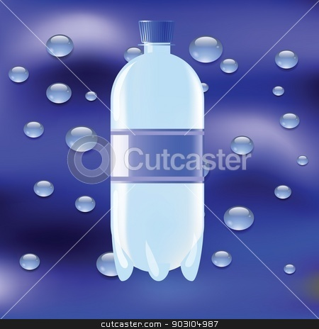 bottle of water stock vector clipart, colorful illustration with bottle of water for your design by valeo5