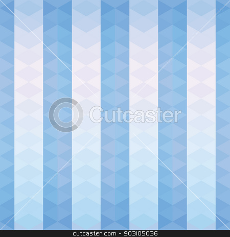 Blue triangles striped pattern stock vector clipart, Seamless geometric background.  The background of the blue triangles, striped pattern. Pastel color.  Use as Wallpaper, texture or background by LittleCuckoo