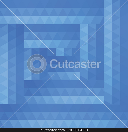 Abstract background of blue triangles stock vector clipart, Abstract background of blue triangles. Seamless pattern by LittleCuckoo