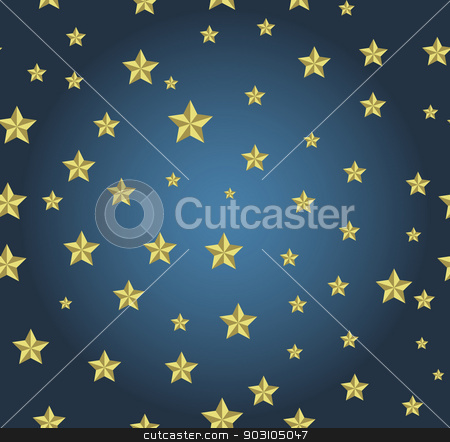 blue background with gold stars stock vector clipart, blue background with gold stars. Can be used for wallpaper, pattern, backdrop, surface textures. by LittleCuckoo