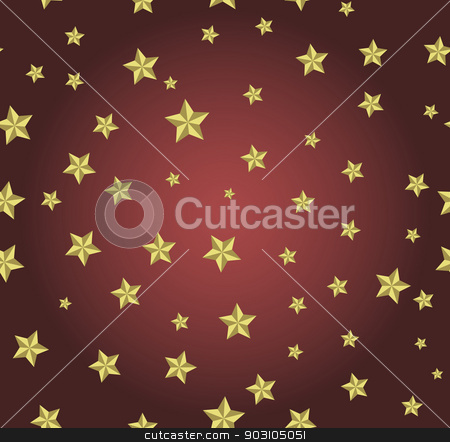 red background with gold stars stock vector clipart, red background with gold stars. Can be used for wallpaper, pattern, backdrop, surface textures. by LittleCuckoo