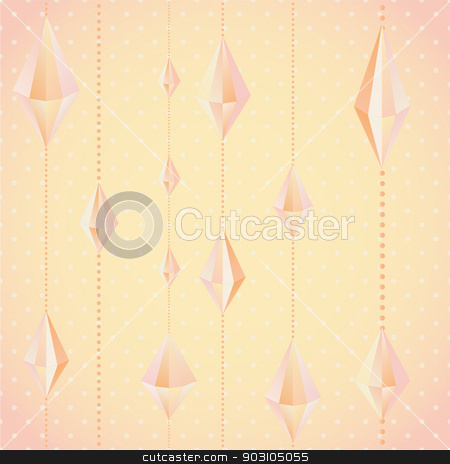 crystal garland stock vector clipart, crystal garland. Bright pastel color. Endless floral pattern. Can be used for wallpaper, pattern, backdrop, surface textures. color seamless floral background by LittleCuckoo