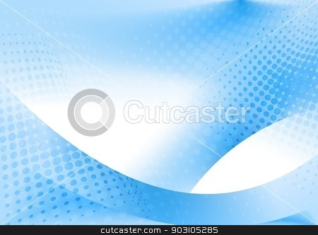 Beautiful wavy backdrop stock vector clipart, Abstract blue and white background. Vector illustration eps 10 by saicle