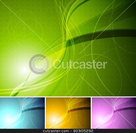 Colourful stylish backgrounds stock vector clipart, Abstract wavy backgrounds. Eps 10 vector. Four colours by saicle