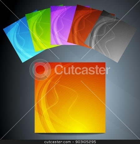Abstract backgrounds collection stock vector clipart, Set of six colourful wavy posters. Eps 10 vector illustration by saicle
