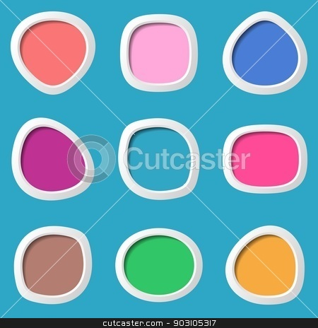 Web buttons stock vector clipart, Vector colorful original round web buttons on blue by blumer