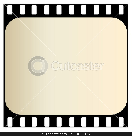 Old film strip stock photo, One old film strip isolated in white background by Elenarts