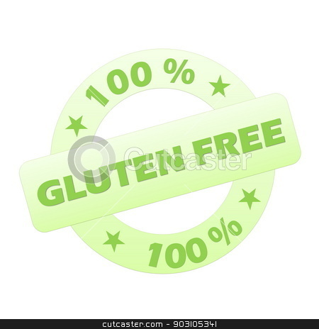 Gluten free stamp stock photo, Green gluten free stamp isolated in white background by Elenarts