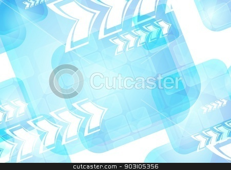 Vibrant technical backdrop stock vector clipart, Abstract tech background with arrows by saicle