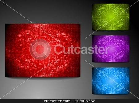 Set of grunge bright backdrops stock vector clipart, Abstract grunge backgrounds. Vector eps 10 by saicle