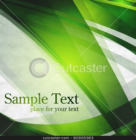 Vector design stock vector clipart, Abstract green stripes on grey background. Eps 10 by saicle