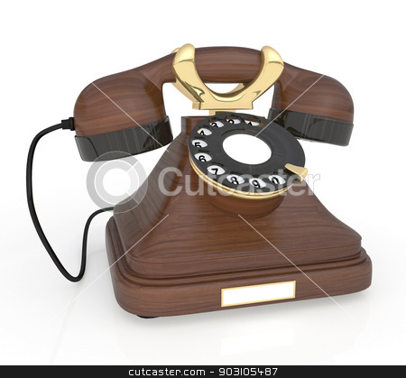 3d Retro phone. stock photo, There is nothing better than call expectation from friends. by karelin721