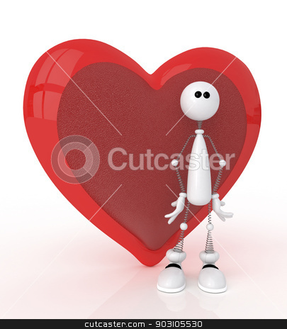 3d St. Valentine's Day. stock photo, Festival of happiness and love for all. by karelin721