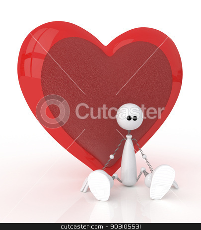 3d St. Valentine's Day stock photo, Festival of happiness and love for all by karelin721