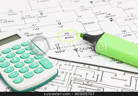 Design of electronic project stock photo, Design of electronic project by B.F.